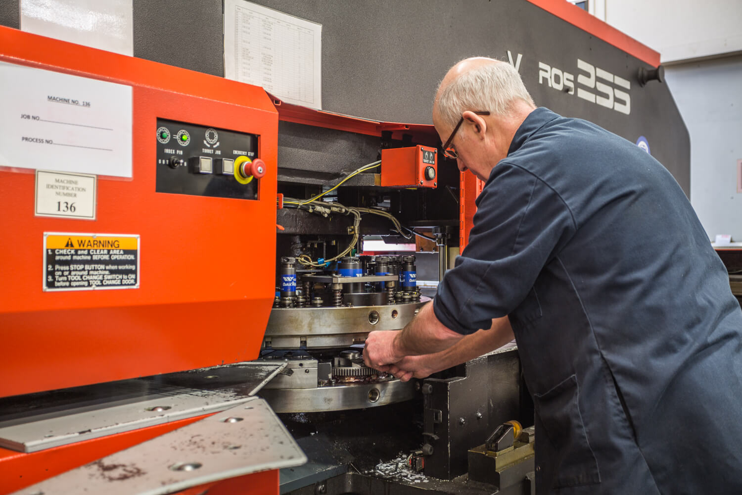 CNC Punching from Sweetnam & Bradley Sheet Metalwork Specialist