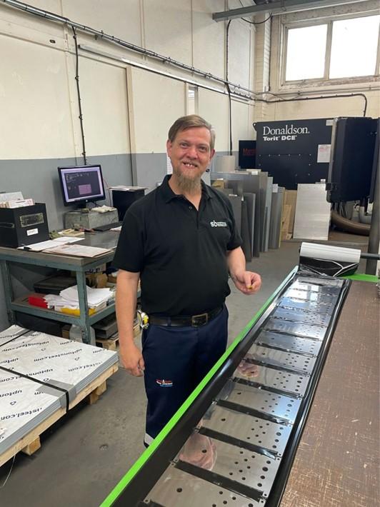 New Sheetmetal worker Wynand Handford