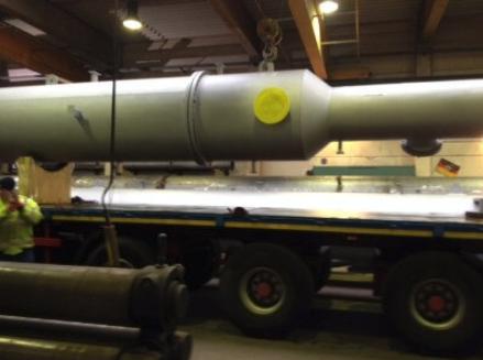 Transport und Lieferung einer Biogasanlage
