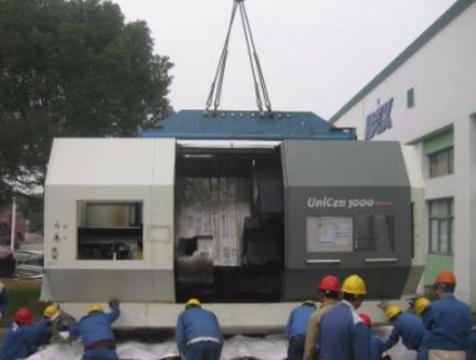 Rücktransport einer CNC Maschine