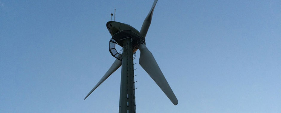 Godlingston Manor wind turbine