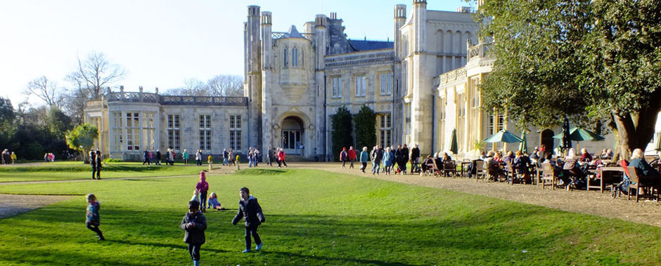 Visitors at Highcliffe Castle