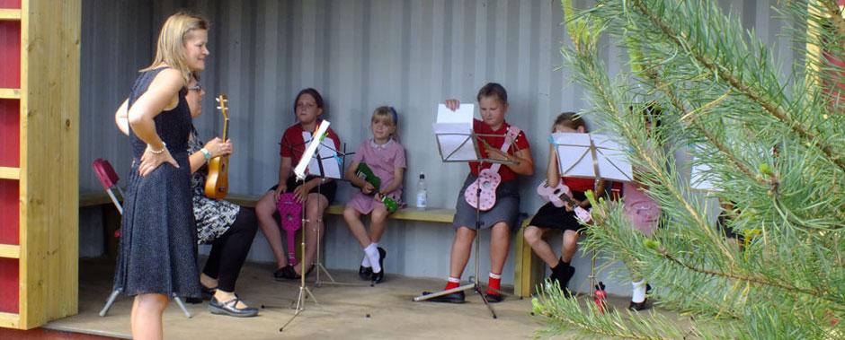 A music lesson at Turlin Moor Community School