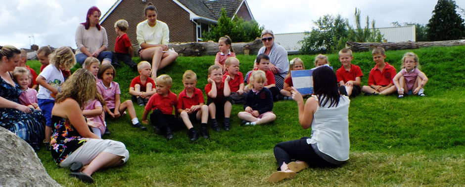 Outside lesson at Turlin Moor Community School