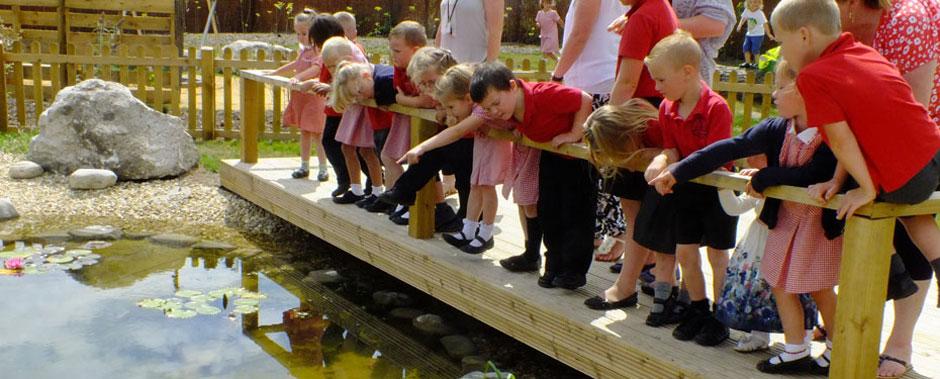 Pond at Turlin Moor Community School