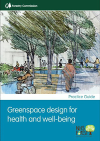 Greenspace design for health and wellbeing publication front cover