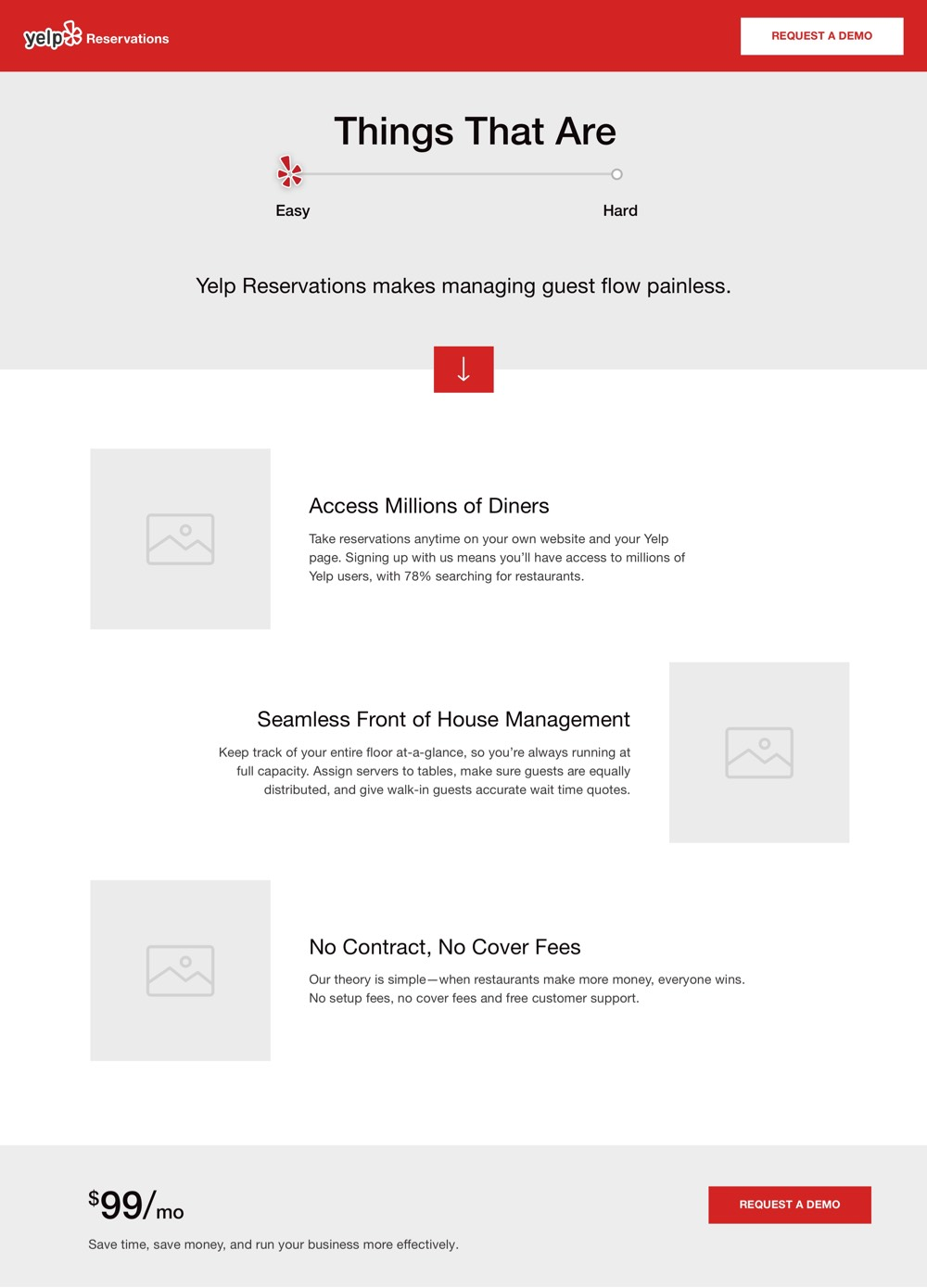 Yelp Wireframe one