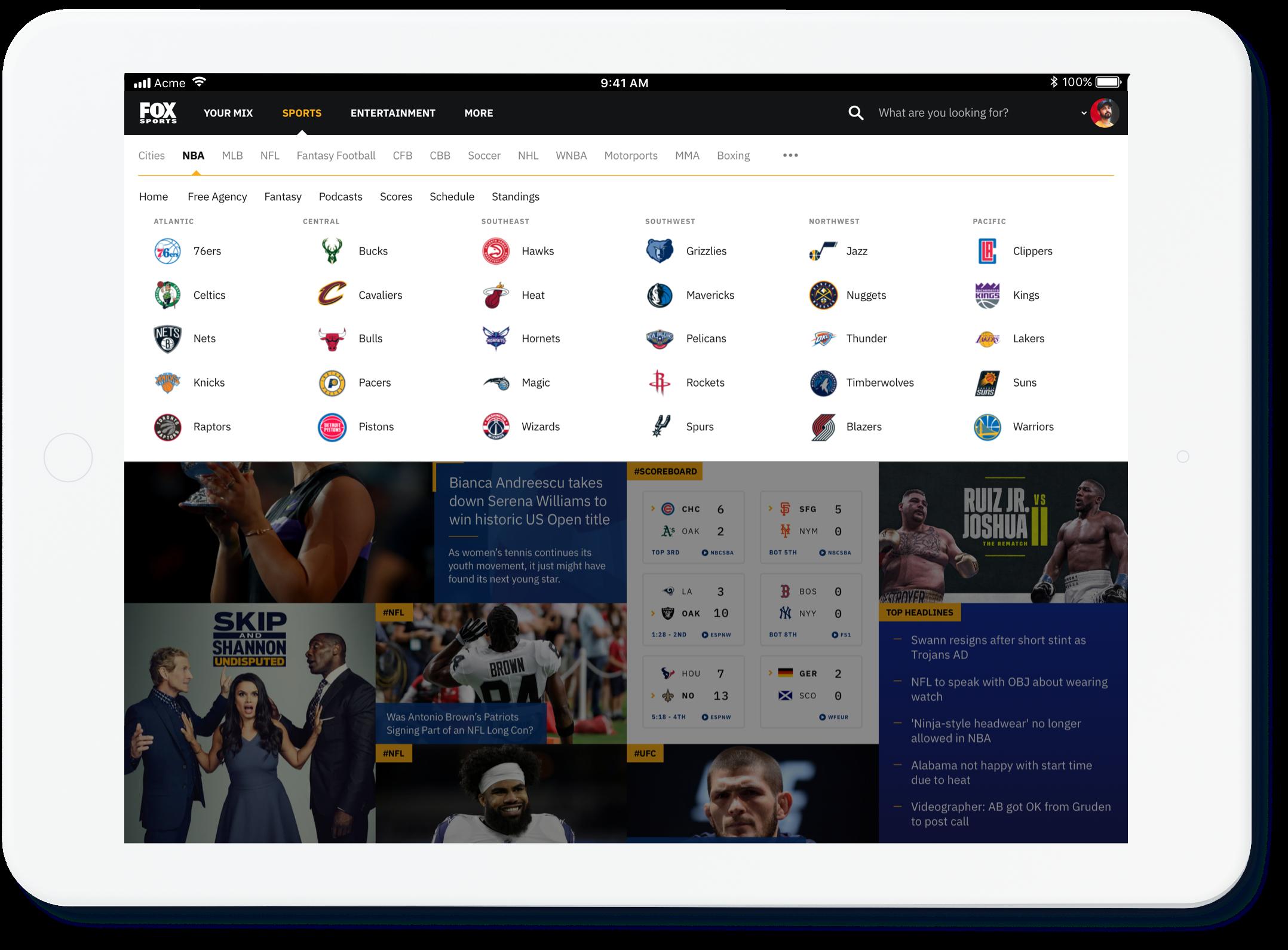 Fox Sports Any Device