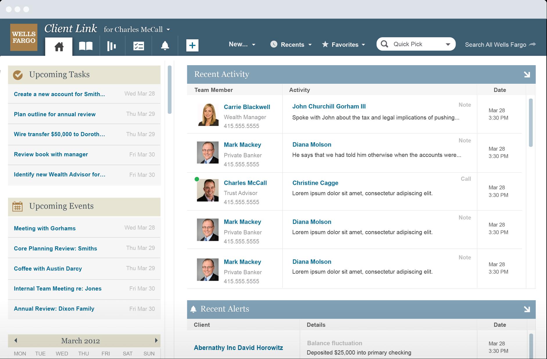 Wells Fargo Client Link CRM