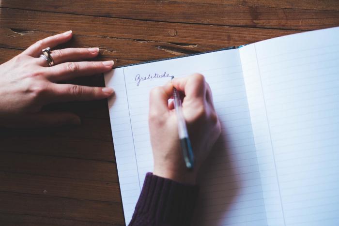 write in a gratitude journal