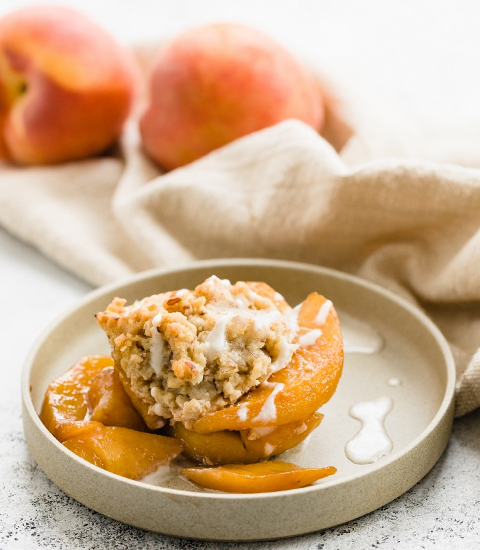 thistle peach cobbler