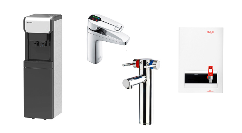 types of hot water taps