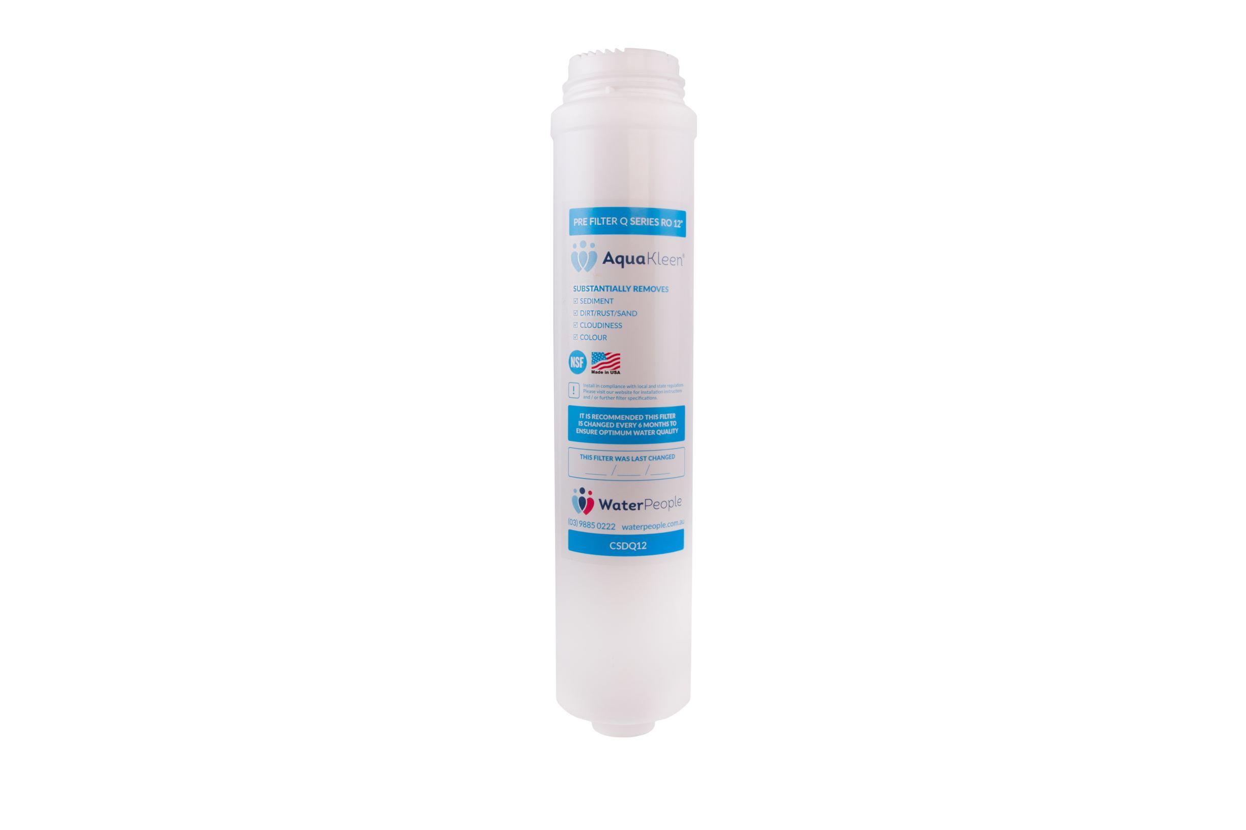 """Aquakleen Q Series Sediment Pre Filter 12"""""""