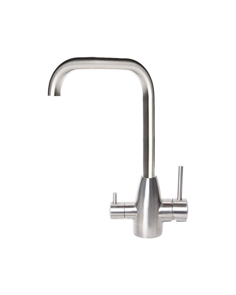 3 Way Mixer Tap Petite Brushed Stainless Steel