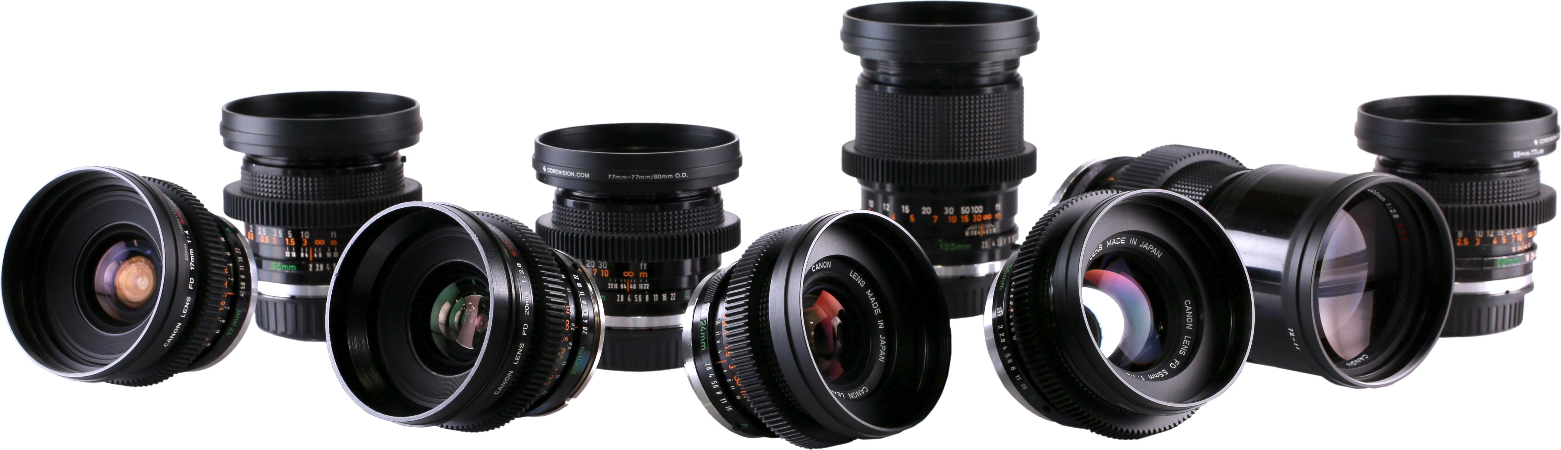 Canon FD Cine-Mod Primes