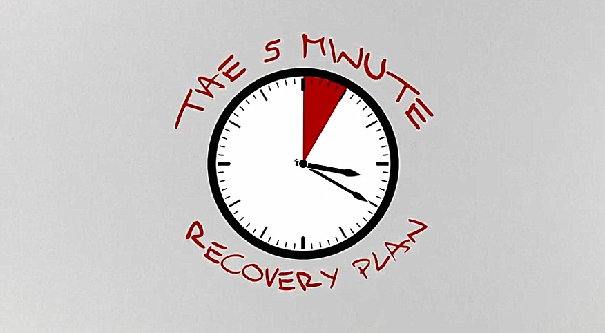 November 2016: 5-minute recovery plan