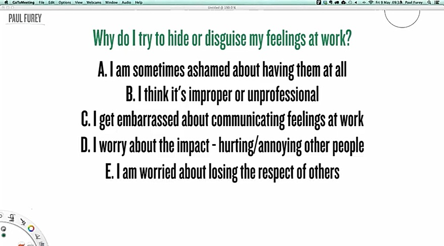May 2014: Feelings at work, Part 1: When