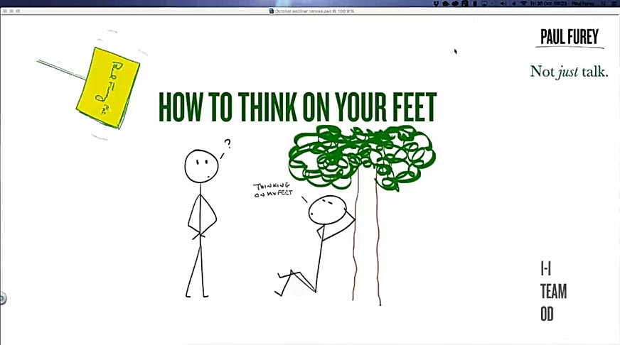October 2015: How to think on your feet