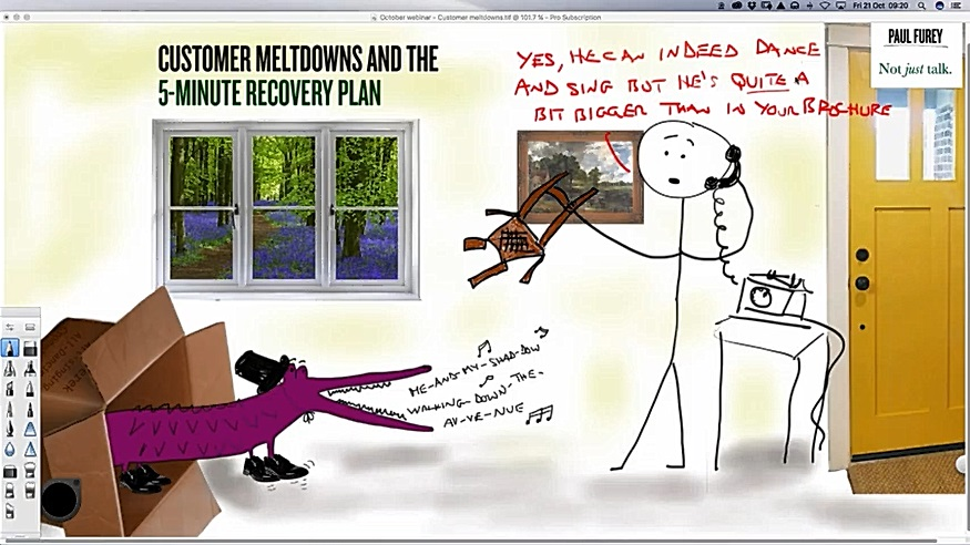 October 2016: Customer meltdowns and the 5-minute recovery plan