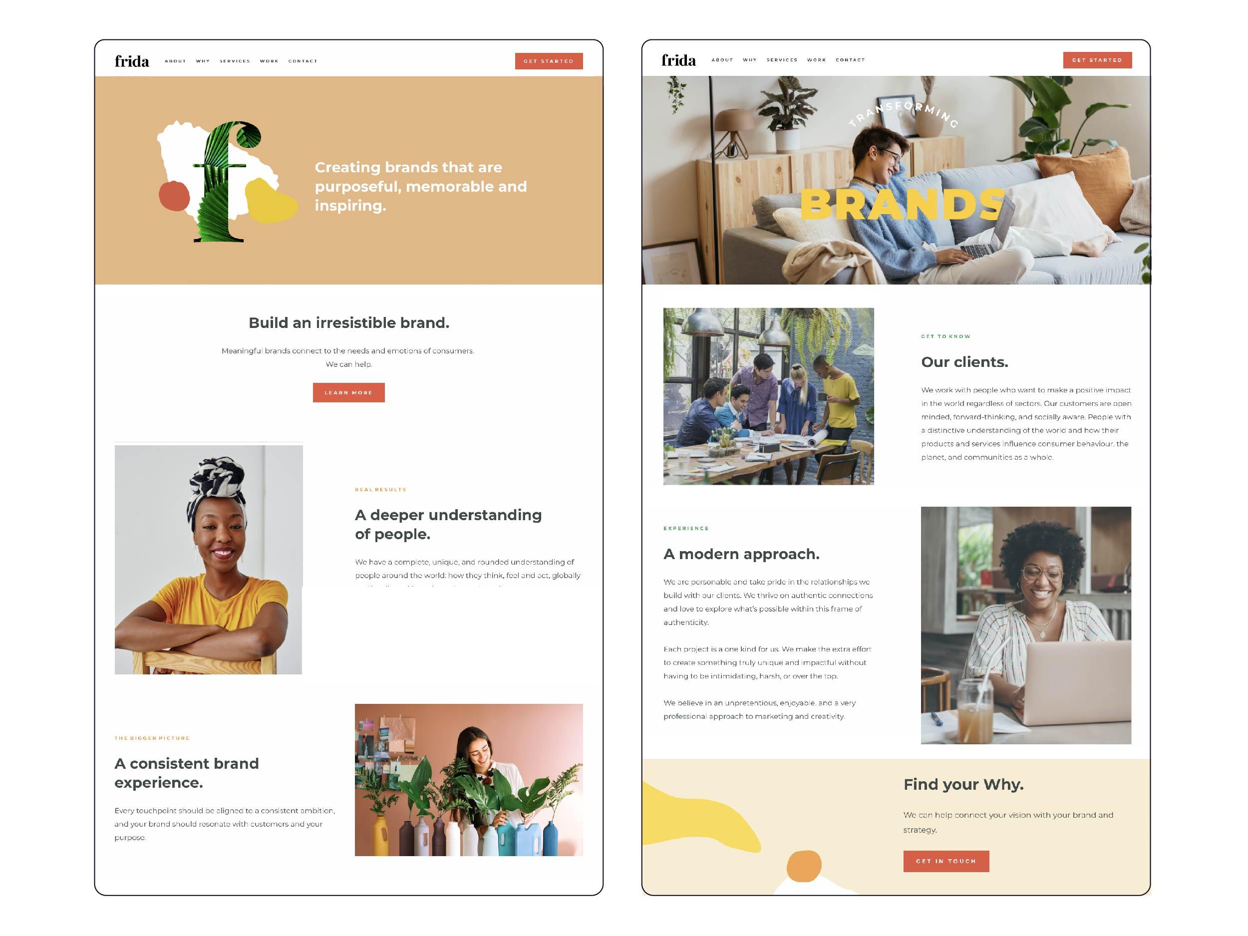 frida website design squarespace