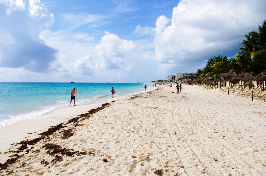 Playa Mamitas is the most popular and closest beach in town.