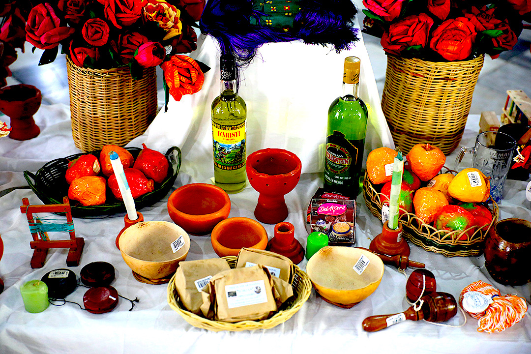 Seasonal fruits and candies are also offerings for the Hanal Pixan altar.