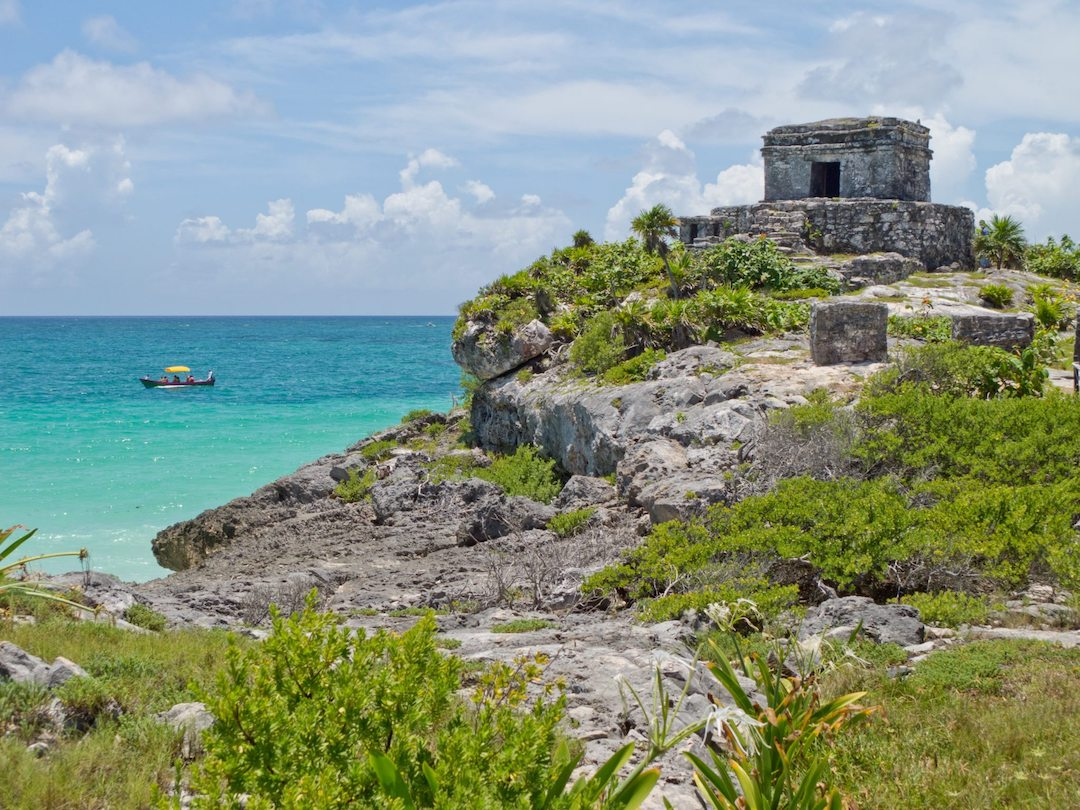Archaeological site of Tulum.