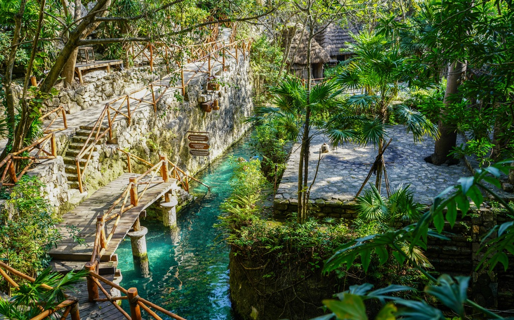 Xcaret theme park in the Ribiera Maya