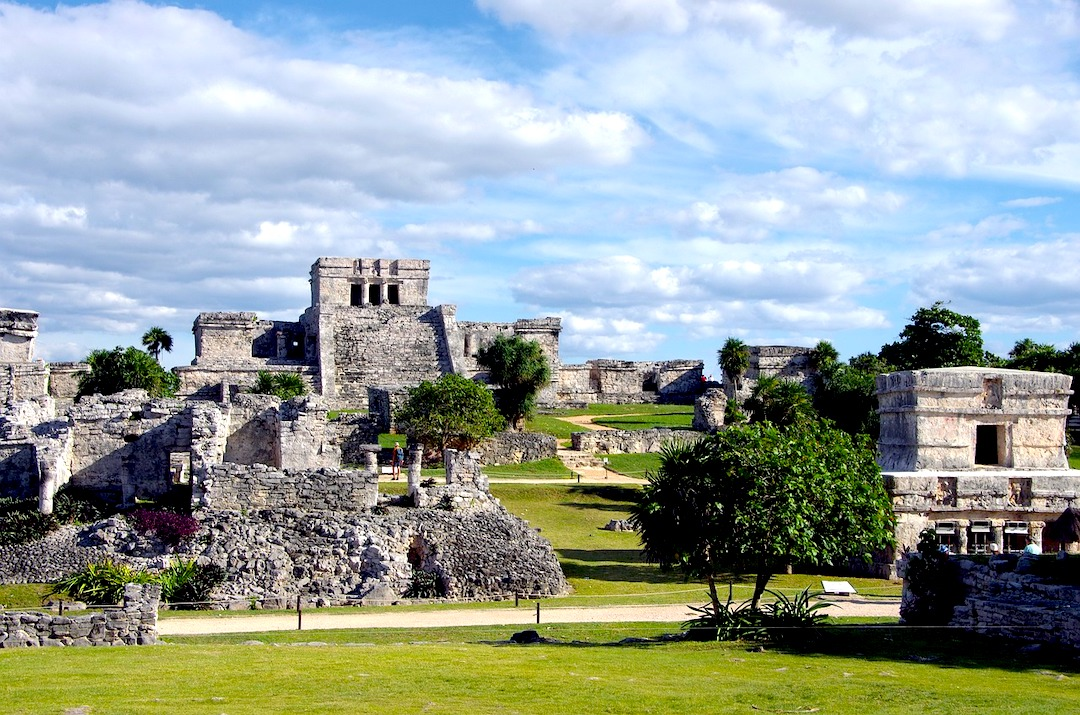 The archaeological site of Tulum.