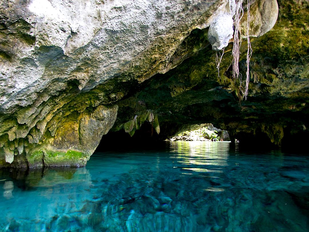 Parte cerrada del Gran Cenote.