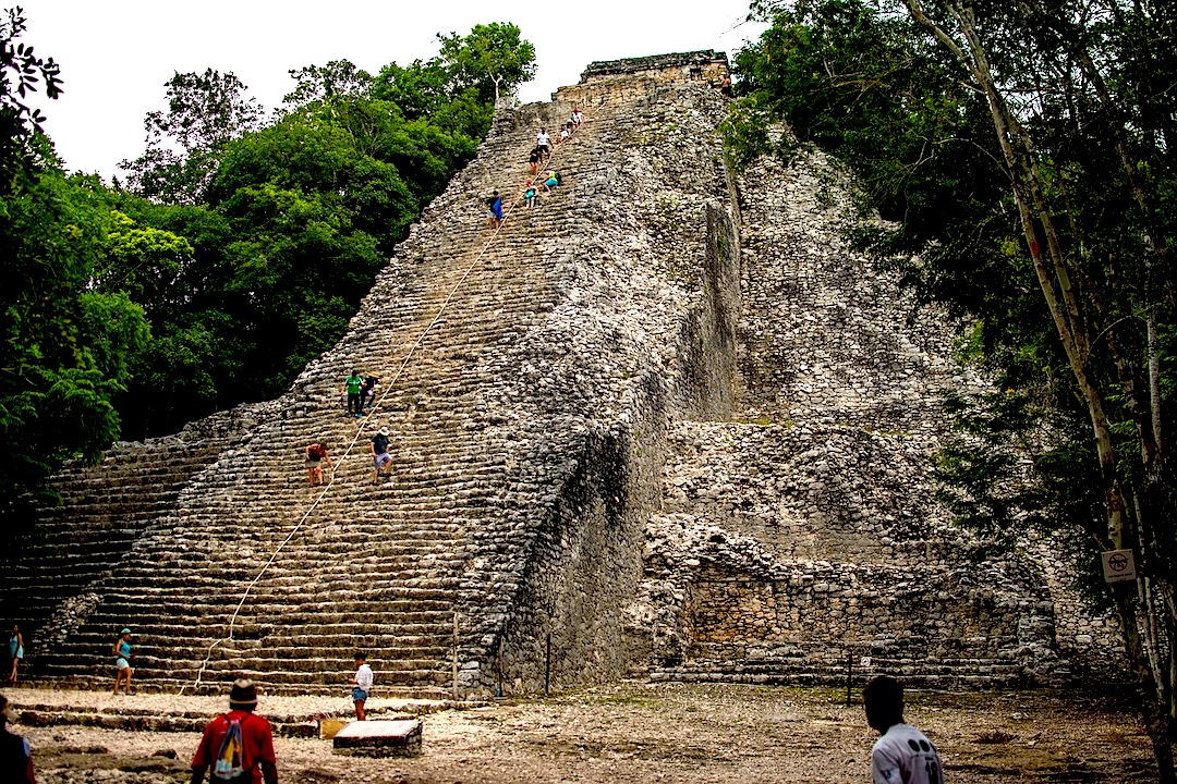 The pyramid of Nohoch Mul in Cobá
