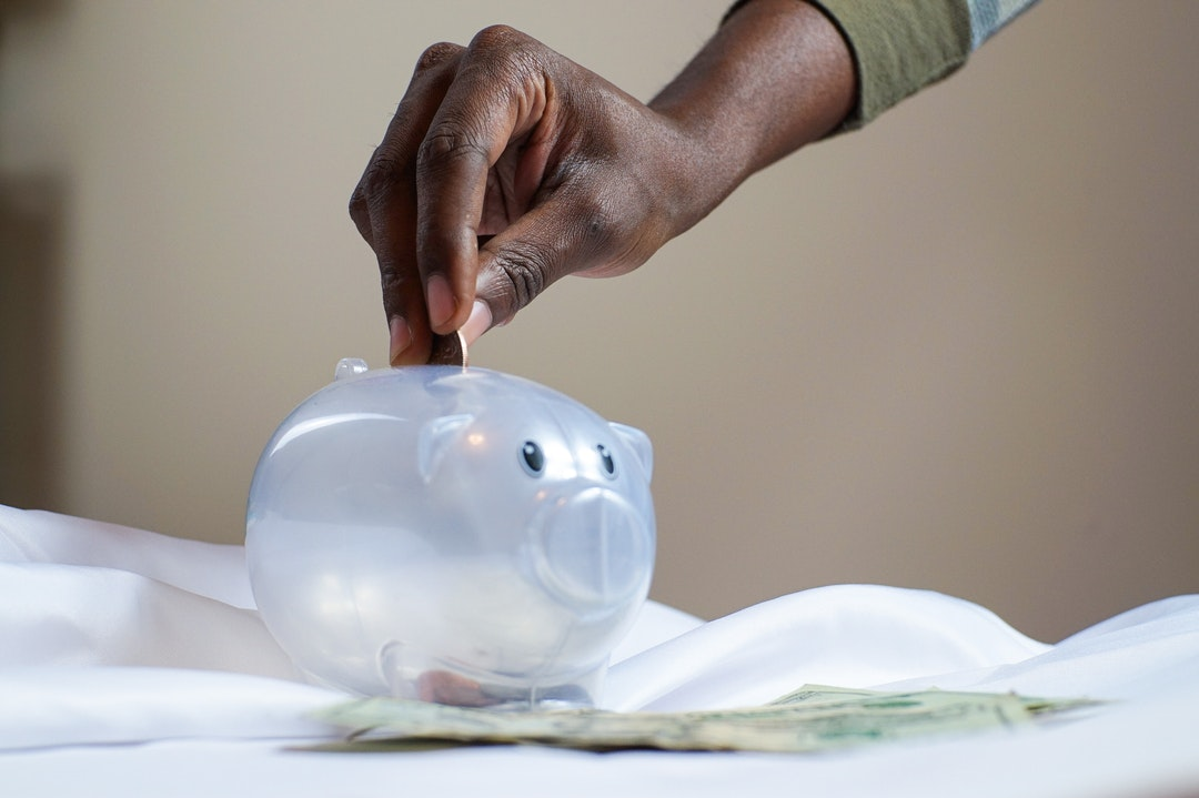 Money for savings.