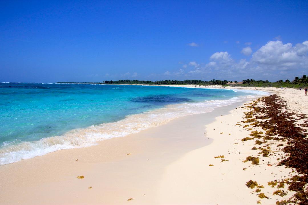 Playa de Xcacel.