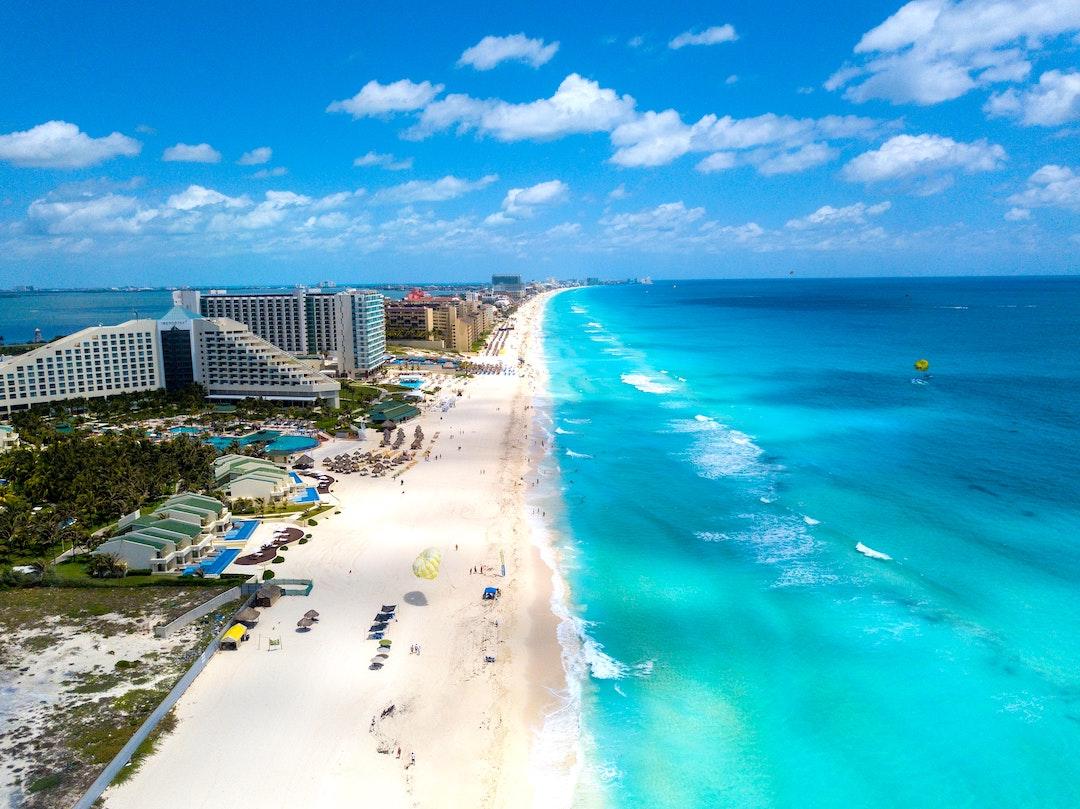 La zona hotelera de Cancún, Quintana Roo.