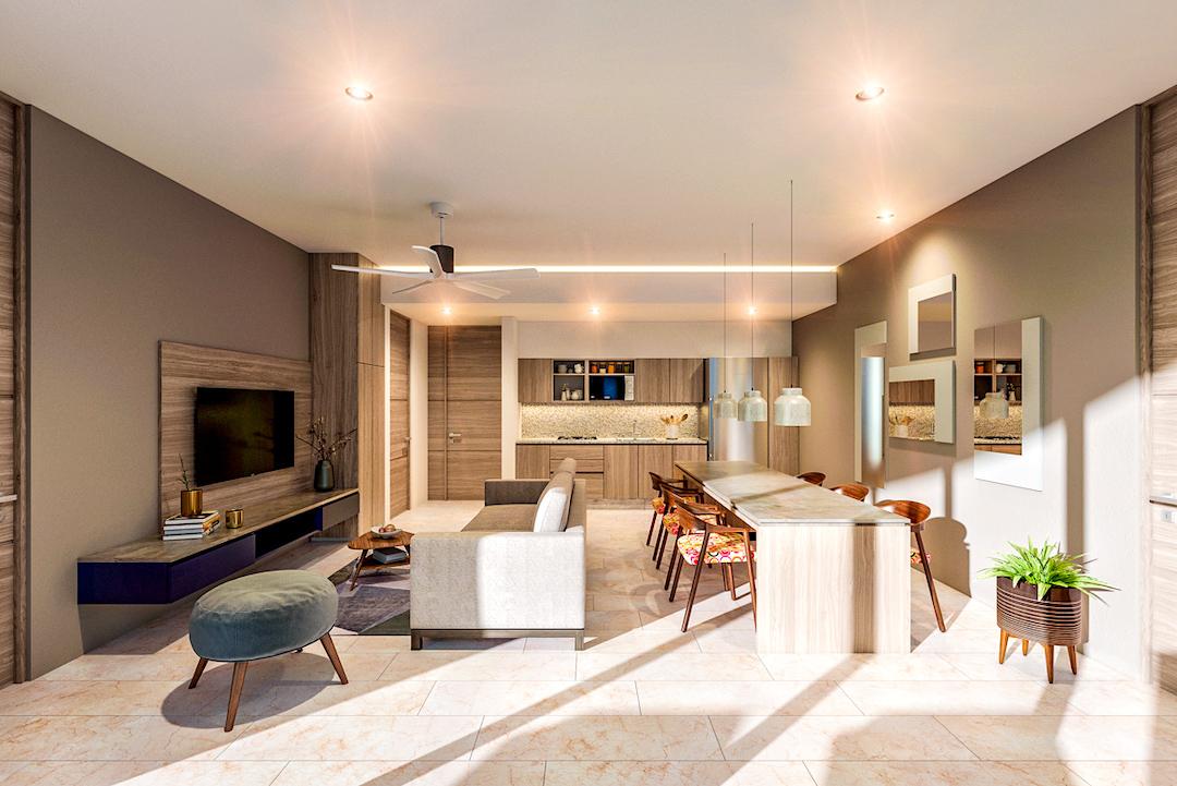 Hunab Residences living room.