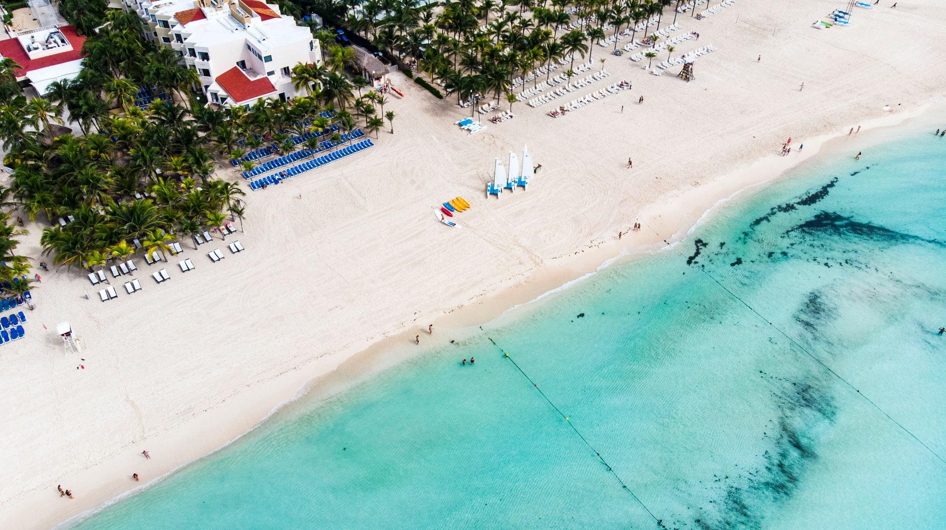 Aerial view of Playa del Carmen.