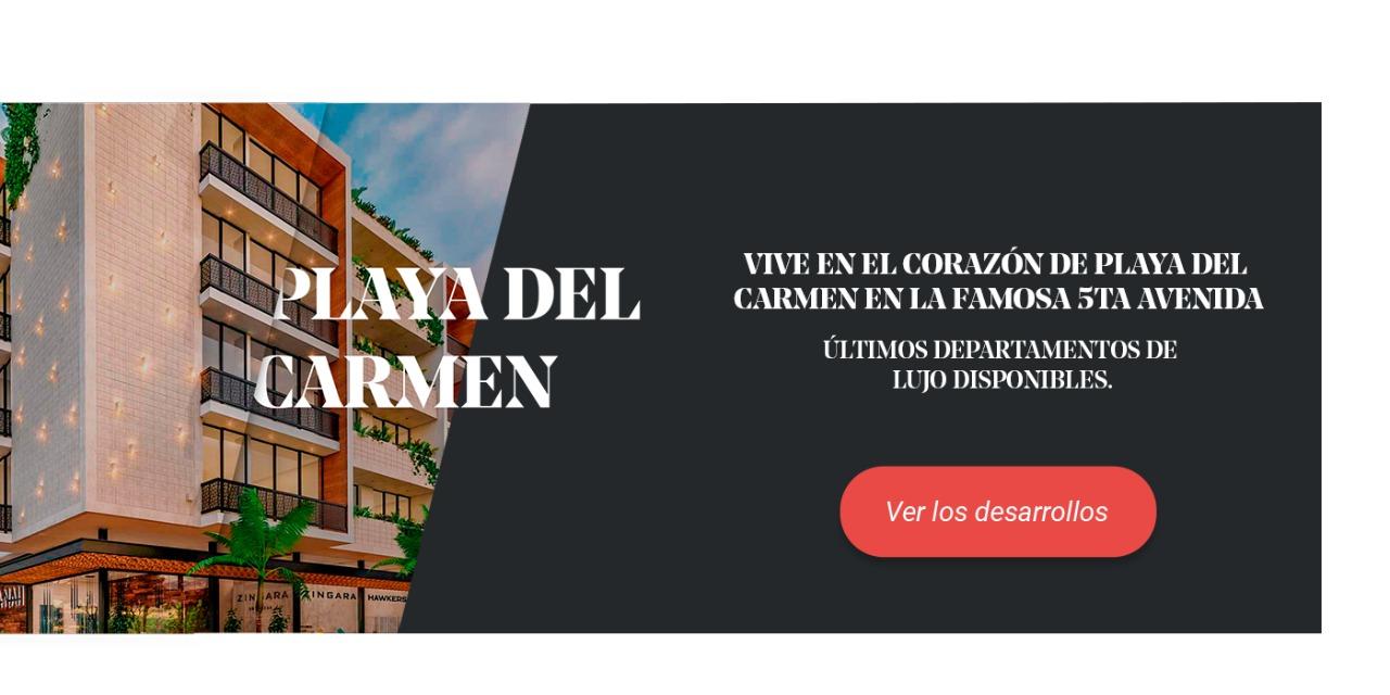 Banner de los desarrollos de Anah en Playa del Carmen.