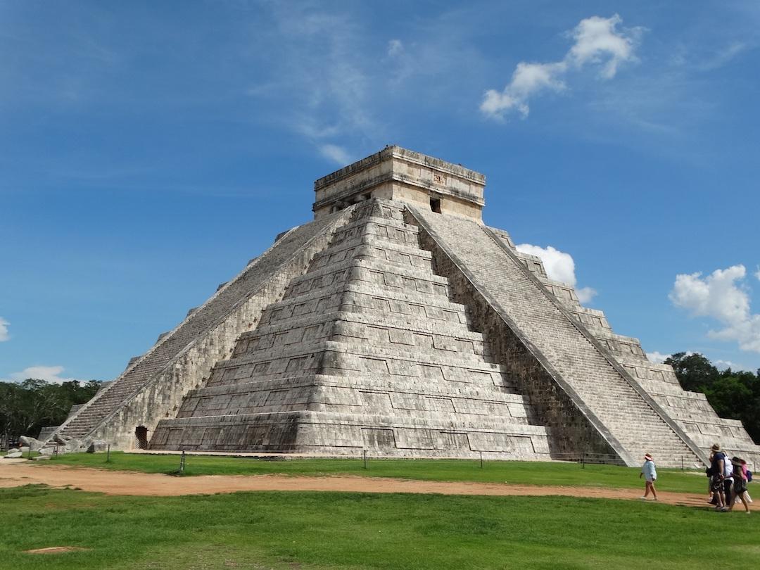 Pyramid of Kukulkan, also known as El Castilloat Chichen Itza in Yucatan
