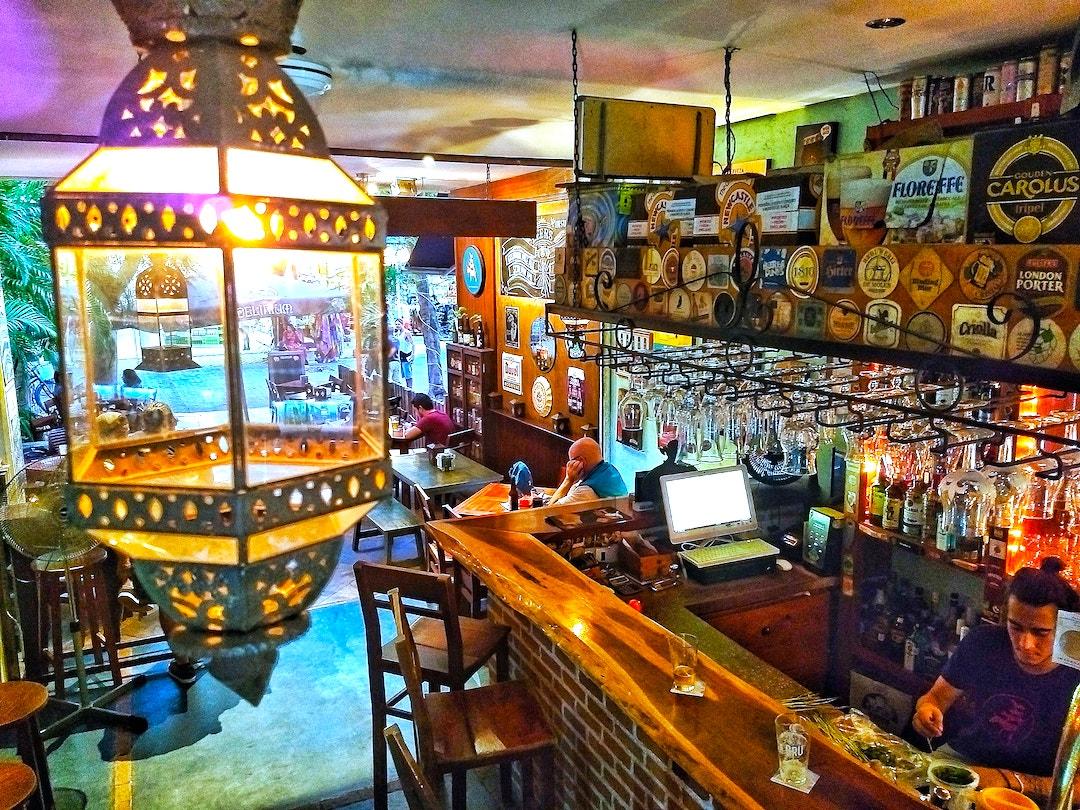 Club de la Cerveza (the beer club) in Playa del Carmen