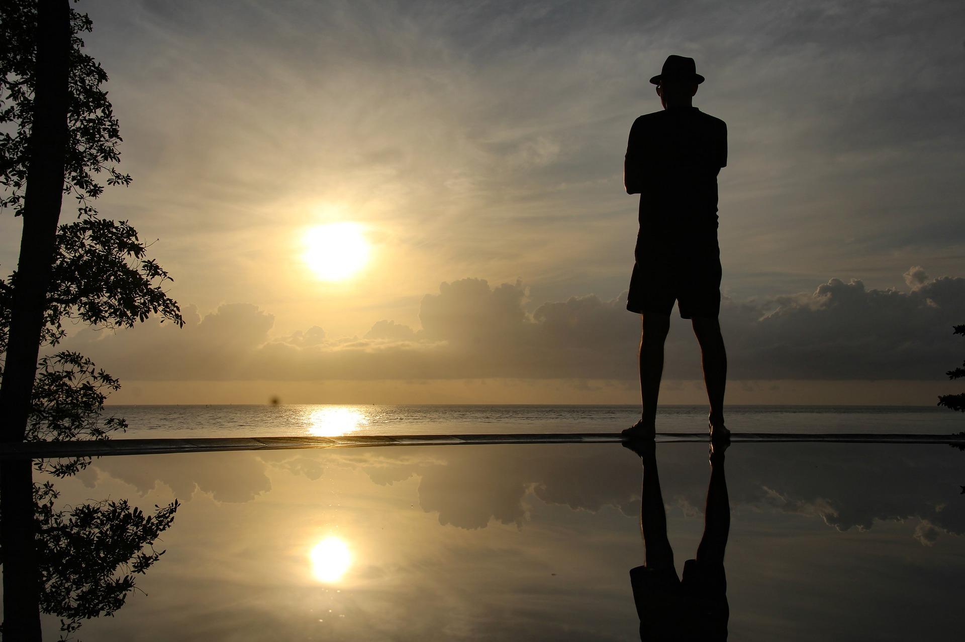 Puesta de sol en playa Boca Paila