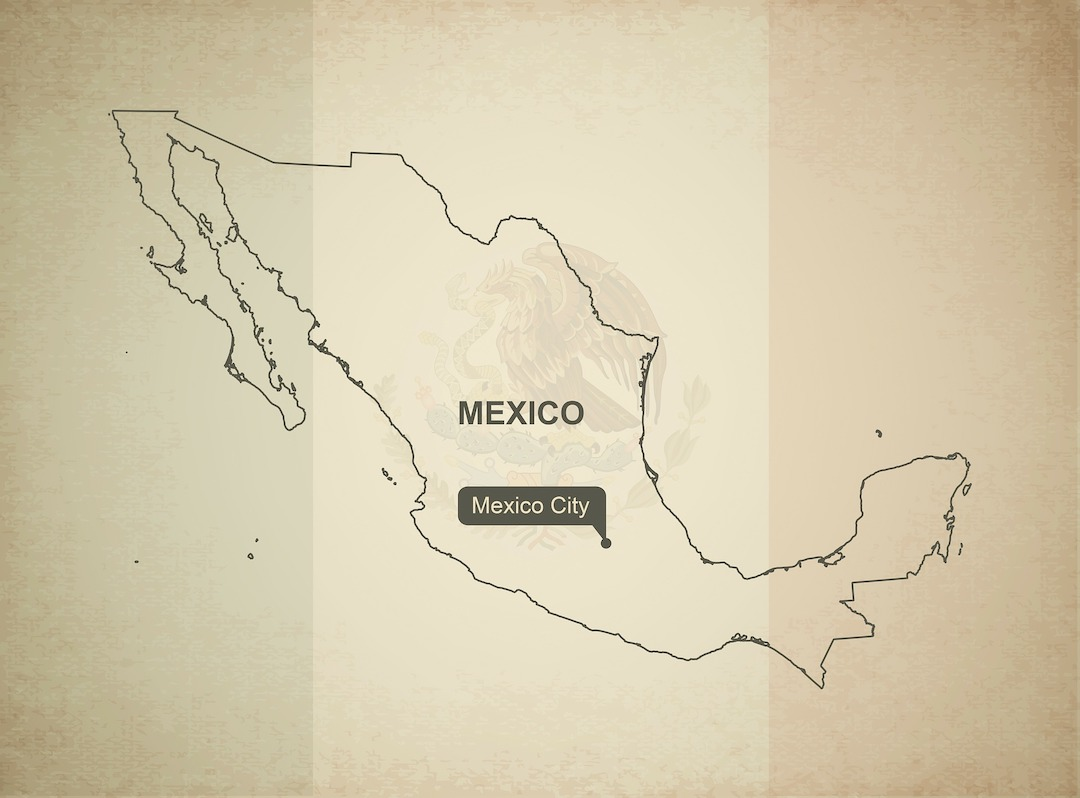 Mapa de México y su capital