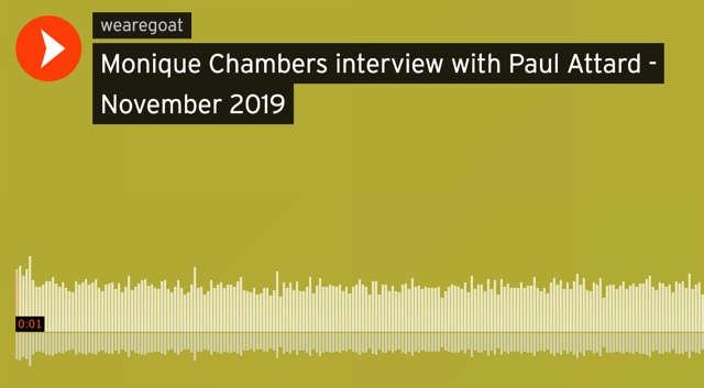 Paul Attard's interview with Monique Chambers on Campus FM