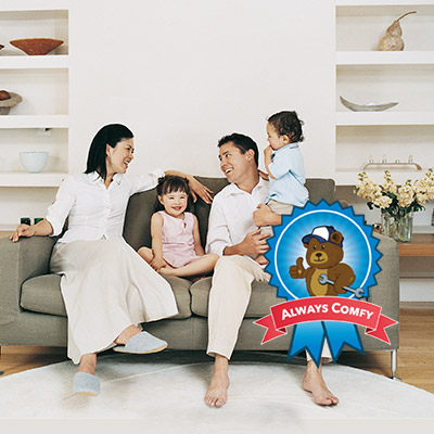 Comfy family at home