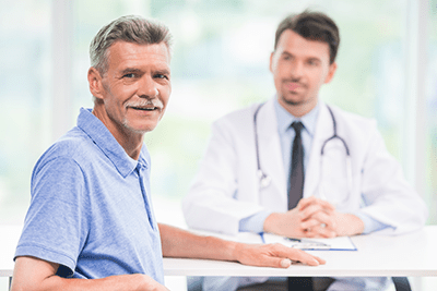 Patient consults with doctor on effective treatment for ED & BPH