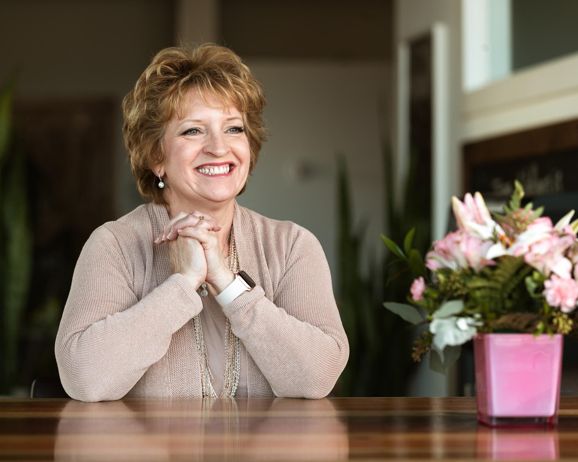 Jane Ellegard_Smiling With Flowers