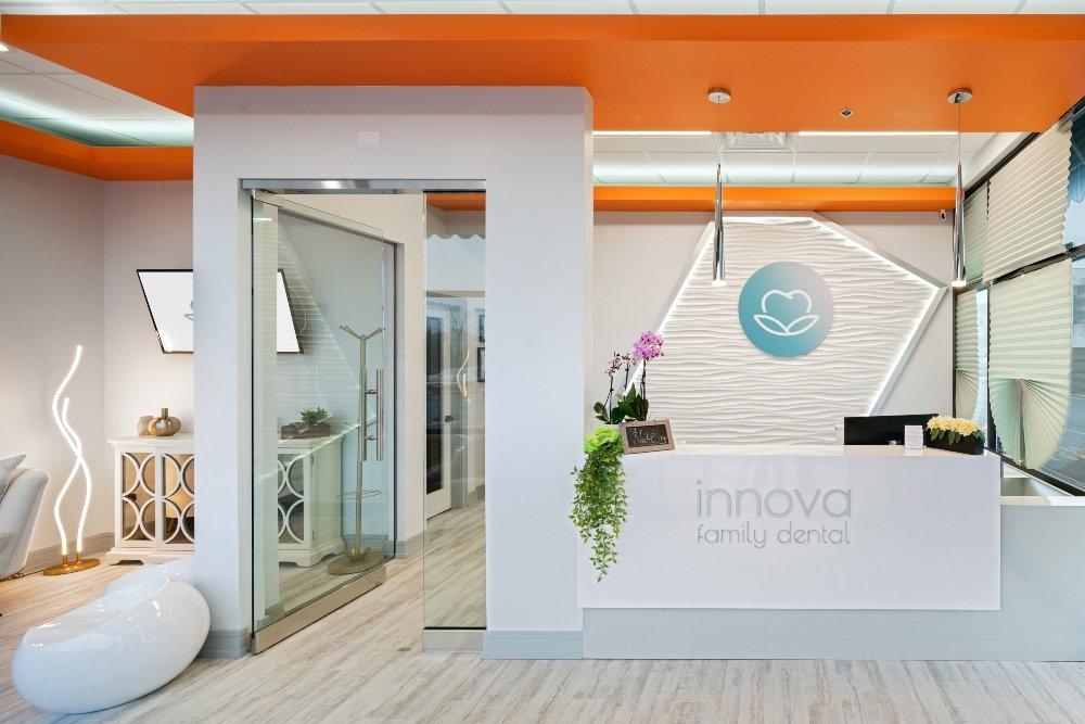 Front desk at Innova Family Dental