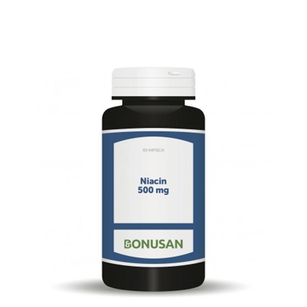 Vitamin B3 Niacin - 500 mg, 60 Stk.