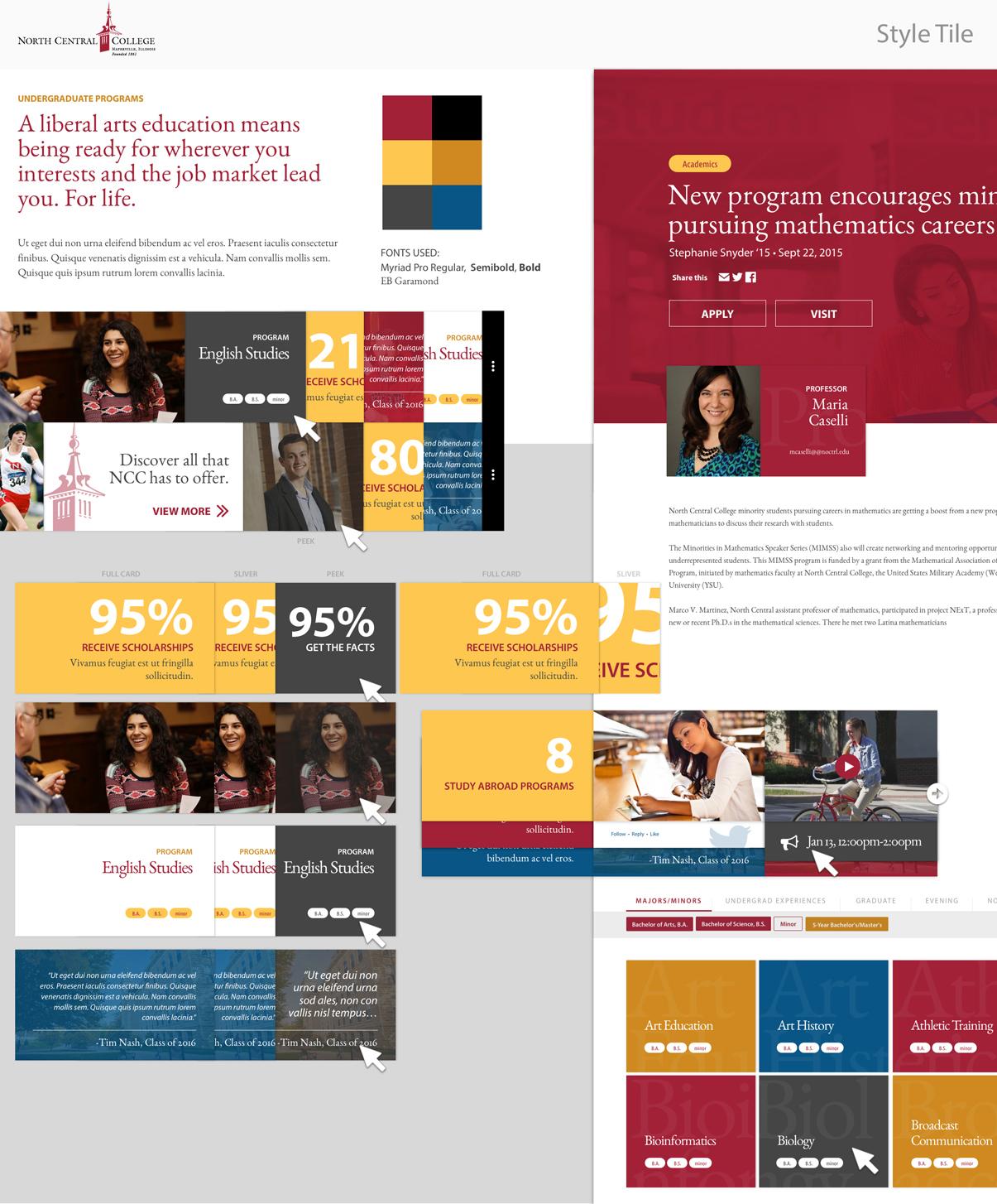 Website Style Tile Concept