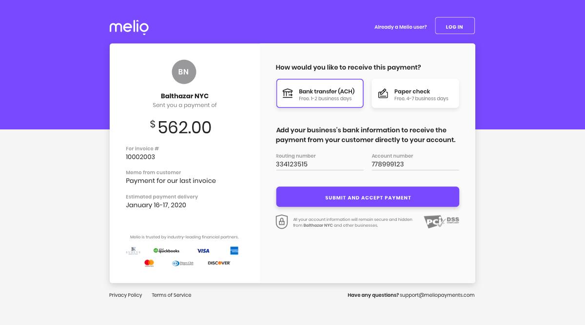 Request Vendor Payment Details Secure Online Form