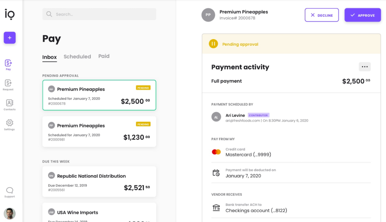 Payment approval workflows for small business payments - Melio